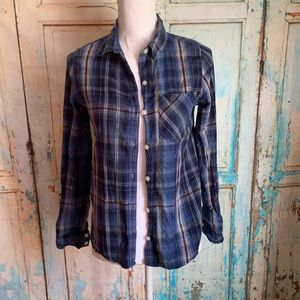 Forever 21 plaid button down top